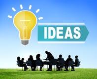 Ambitionidéer som tänker begrepp för innovationvisionstrategi stock illustrationer