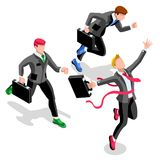Ambitious business change Career Ambitions vector concept Stock Image