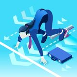 Ambitious business change Career Ambitions vector concept Royalty Free Stock Image