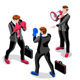 Ambitious business change Job Ambitions vector concept Stock Photography