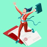 Ambitious business change Job Ambitions vector concept Royalty Free Stock Image
