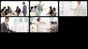 Ambitious business people at a presentation stock video
