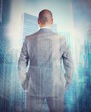 Ambitious businessman. With many opportunities in future Royalty Free Stock Photo