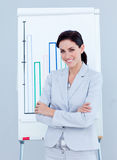 Ambitious businesswoman giving a presentation Royalty Free Stock Image