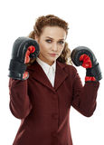 Ambitious businesswoman Stock Photos