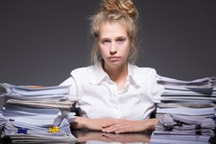 Ambitious trainee abused by employer Royalty Free Stock Photo