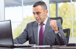 Ambitious Young Businessman Succeeded Royalty Free Stock Image