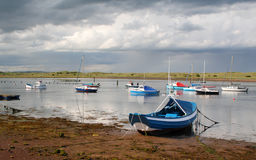 Amble Harbour. The Seaside town of Amble, Northumberland, England Stock Photo