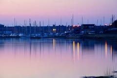 Amble Harbour at dawn. Northumberland England Uk Europe Royalty Free Stock Photos