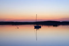 Amble Harbour at dawn Royalty Free Stock Images