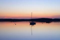 Amble Harbour at dawn. Northumberland England Uk Europe Royalty Free Stock Images