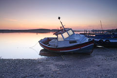 Amble Harbour at dawn Stock Photo