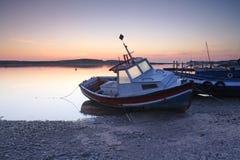 Amble Harbour at dawn. Northumberland England Uk Europe Stock Photo