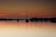 Amble Harbour at dawn Royalty Free Stock Photography
