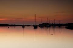 Amble Harbour at dawn. Northumberland England Uk Europe Royalty Free Stock Photography