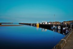 Amble harbour in northumberland UK Royalty Free Stock Photography