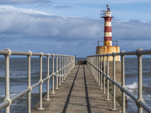 Amble Lighthouse Royalty Free Stock Photo