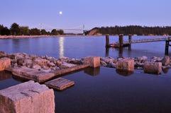 ambleside公园西方的温哥华 库存图片