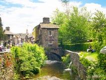 桥楼室在Ambleside在英国湖区 免版税库存图片