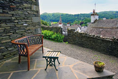 Ambleside, Lake District. Panorama of the town Royalty Free Stock Photography