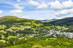 Ambleside. From Lougrigg Brow, South Lakeland District, Cumbria, England, United Kingdom Royalty Free Stock Image