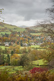 Ambleside. And surrounding fields on an autumn day Royalty Free Stock Photo