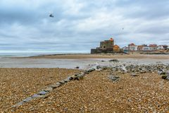 Ambleteuse, fort Mahon, Nord pas de Calais, France royalty free stock photography