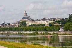 Amboise är en älskvärd stad i Frankrike fotografering för bildbyråer