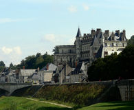 Amboise. Franch castle Amboise in summer Stock Images