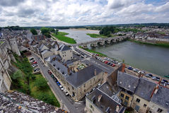 Amboise. Landscape viewed from Amboise castle in France Royalty Free Stock Image