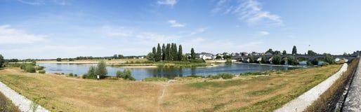 Amboise bridge panoramic view Stock Photo