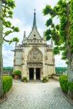 Amboise, capilla de Huberto del santo, tumba de Leonardo Da Vinci. El Loira Vall imágenes de archivo libres de regalías