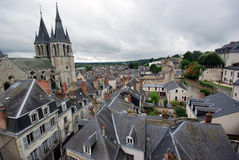 Amboise from the castle Royalty Free Stock Photo