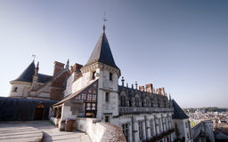 Amboise castle. Wide view of Amboise castle, France Stock Images