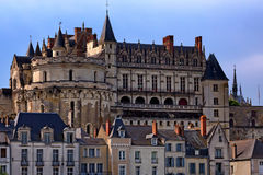 Amboise castle. Closeup scenic photography of Amboise castle in France Stock Images