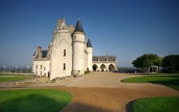 Amboise castle, France. Yard of Amboise famous castle, France Stock Photos
