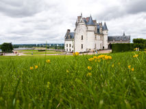 Amboise Castle in Loire Valley. Ant-view of Amboise Castle, a really nice place to breathe a medieval feeling Royalty Free Stock Images