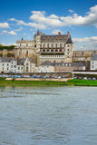 Amboise castle over river, France Royalty Free Stock Image