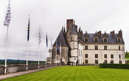 Amboise castle. Park view on Amboise castle. Loire valley, France Royalty Free Stock Photo