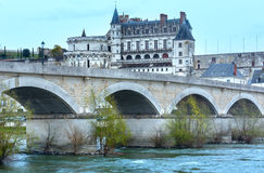Amboise Castle spring view (France) Royalty Free Stock Photography