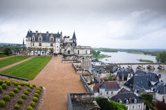 Amboise Castle in the valley of Loire, France Royalty Free Stock Photo