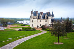 Amboise Castle in the valley of Loire, France Stock Image