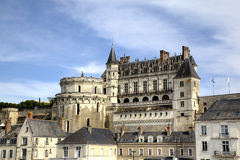 Amboise Castle. Valley of Loire, France Royalty Free Stock Images