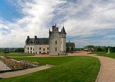 Amboise Chateau. The chateau of Amboise in the Loire valley, France Stock Image
