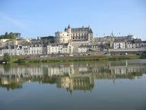Amboise Chateau, de Vallei van de Loire stock foto