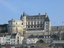 Amboise Chateau, de Vallei van de Loire stock fotografie