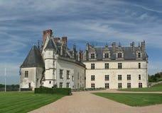 Amboise Chateau, de Vallei van de Loire, Frankrijk stock fotografie