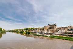 Amboise Chateau in The Loire Valley Stock Images