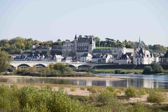 ` Amboise do castelo d, Loire Valley, França Imagens de Stock