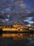 Amboise, dział w środkowy Francja. zdjęcie stock